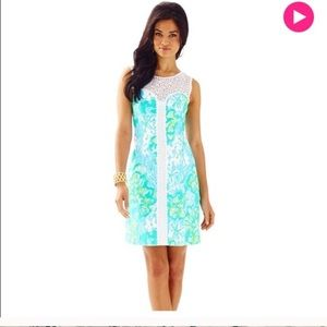 Lilly Pulitzer Sofia Lace Shift Dress. Size 10.